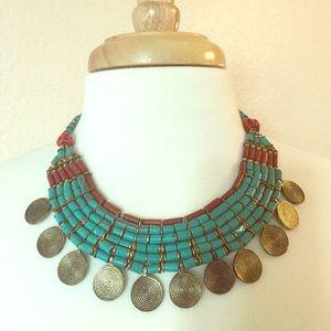 Super cool tribal boho necklace!